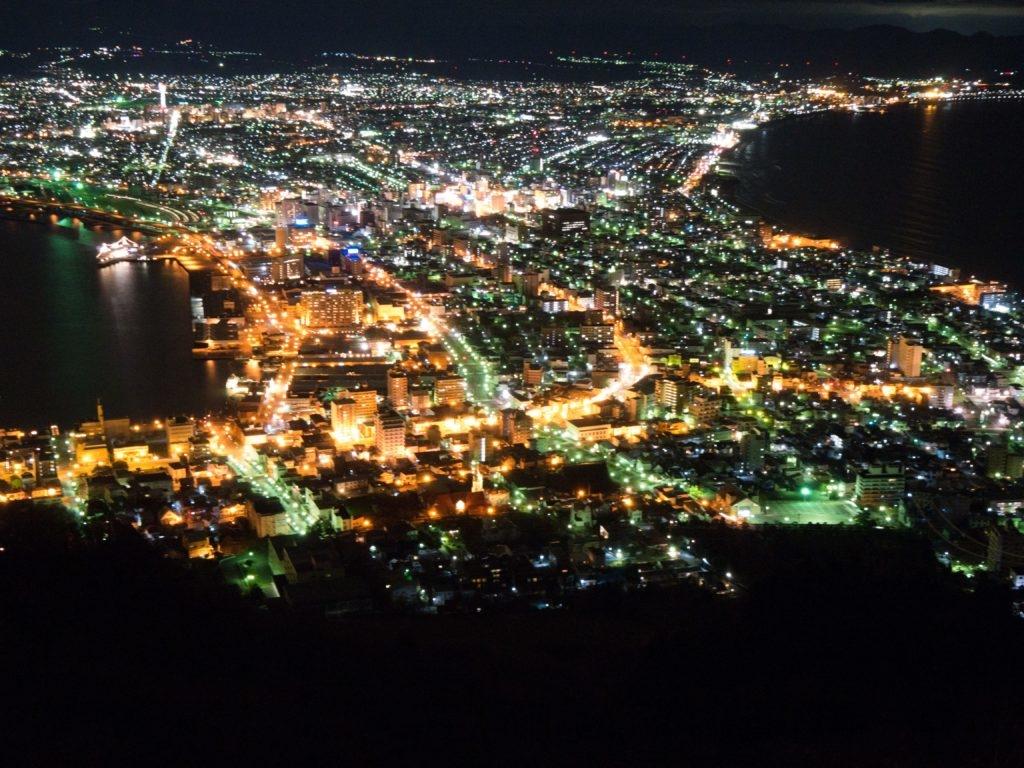 函館の「裏」夜景が見れる場所の紹介